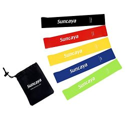Suncaya Exercise Resistance Loop Bands – Set of 5, 12-inch Bands for Fitness Workouts