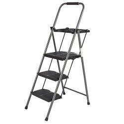 Best Choice Products Shade 3 Step Ladder Platform Lightweight Folding Stool 330 LBS Cap Space Sa ...