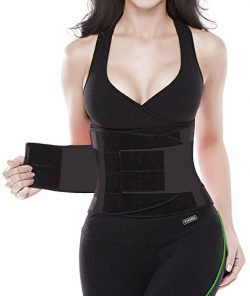YIANNA Waist Trimmer Belt Fat Burner Low Waist Back Support Adjustable Abdominal Trainer Body Ho ...