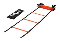 BodyGood Pro Athlete Grade Speed Agility Ladder – Extra-Long, 20 Foot Quick Ladder with Durable  ...