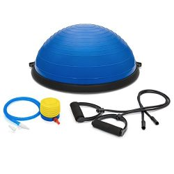 Best Choice Products Fitness Blue Yoga Balance Trainer ball W/ Resistance Bands & Pump Exerc ...
