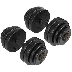 Best Choice Products 64LB Weight Dumbbell Set Adjustable Cap Gym Barbell Plates Body Workout