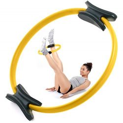 Oyomba Pilates Ring by 14″ Workout Magic Circle – BALANCED BODY CIRCLE TO Achieve a  ...