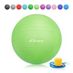 Trideer Exercise Ball (45-85cm) EXTRA THICK Yoga Ball Chair, Anti-Burst Heavy Duty Stability Bal ...