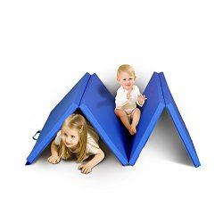 Zeyu Sports Kids Children Gymnastics Mat Home gym Mat Exercise Training Mat Tumbling Mat (BLUE)
