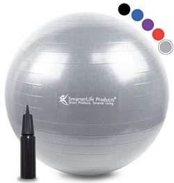Exercise Ball for Yoga, Pilates, Therapy, Balance, Stability, Posture Support, Desk Chair and Bi ...