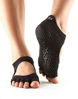 toesox Women's Bellarina Half Toe Grip Non-Slip for Ballet, Yoga, Pilates, Barre Toe Socks ...