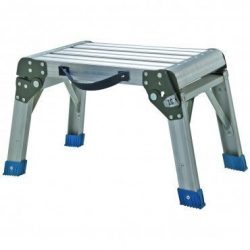 Step Stool and Working Platform 350 Lbs. Capacity Foldable Anodized Aluminum by Haul-Master