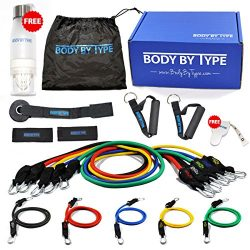 BBT Fitness Resistance Exercise Band Set For Legs and Butt w/ Handles, Door Anchor, Thick Resist ...