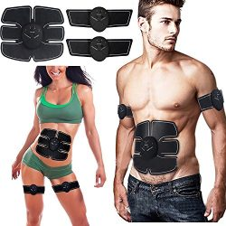 Repokevin ABS Abdominal Toning Belt EMS Toner Body Muscle Trainer, Wireless Portable Unisex Fitn ...