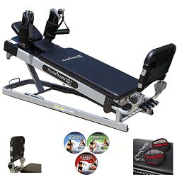 Pilates Power Gym Pro' 3-Elevation Mini Reformer Exercise System with 3 Pilates Workout DV ...