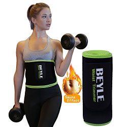 Waist Trimmer, Beyle Waist Trainer Corset for Weight Loss, Adjustable Stomach Wraps Sweat Vest W ...