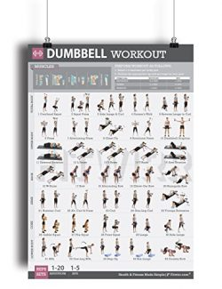 Dumbbell Exercise Workout Poster for Women – LAMINATED – Exercise For Women –  ...