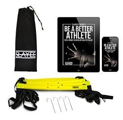 AGILITY LADDER (15FT) by Slayed Sports | Workout Equipment Includes Metal Pegs, Carry Bag, and B ...