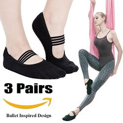 Yoga Socks for Women Non Skid Socks with Grips Barre Socks Pilates Socks for Women (grip socks b ...