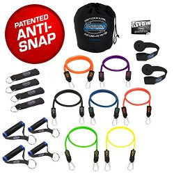 Bodylastics Stackable (19 Pcs) MAX XT Strong Man Resistance Bands Sets. This Leading Exercise Ba ...