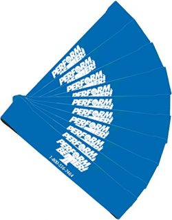 Perform Better Exercise Mini Band, Blue-Heavy – Set of 10 (Exercise Guide Included)