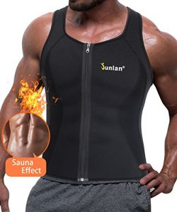 Men Hot Neoprene Corset Body Shaper Zipper Waist Trainer Vest for Weightloss Sauna Tank Top Plus ...