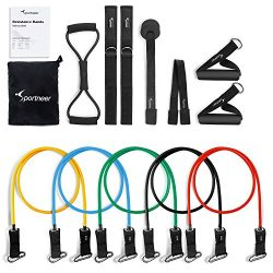 Resistance Bands Sportneer Exercise Band Set, for Home Gym Workout, with Door Anchor, Ankle Stra ...