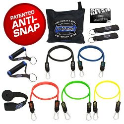 Bodylastics Stackable (12 Pcs) MAX Tension Resistance Bands Sets. This Leading Exercise Band Sys ...