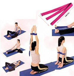 HuaYang D-Ring Yoga Pilates Belt Strap Band Equipment Waist Leg Exercise Fitness Figure Props(Pu ...