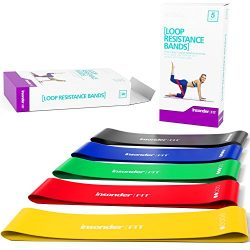 Resistance Bands [IMPROVED EDITION] Set Exercise Bands – Workout Bands Stretch Bands ̵ ...