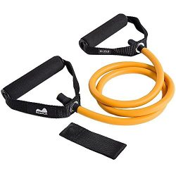 REEHUT Single Resistance Band, Exercise Tube – With Door Anchor and Manual Orange
