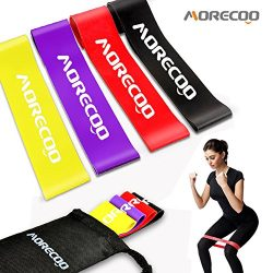 MORECOO Resistance Loop Bands Exercise Bands for legs Home& Gym Workout Bands for Yoga Fitne ...