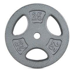 CAP Barbell 25 lb Standard Grip Plate, Gray