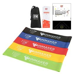 INMAKER Resistance Exercise Bands, Booty Workout Loops for Legs and Butt-Set of 5, Free Ebook, O ...