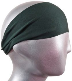 Bondi Band Solid Moisture Wicking 4″ Headband, Hunter, One Size