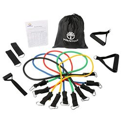 WenTop Resistance Band Set Detachable Heavy Duty Resistance Bands Workout Bands with Door Anchor ...