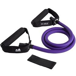 Reehut Single Resistance Band, Exercise Tube – With Door Anchor and Manual Purple, For Res ...