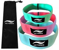 Victorem Booty Hip Bands – Cotton Fabric Resistance Fitness Loop Bands – Exercise Legs & But ...