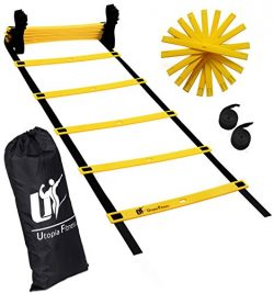 Utopia Fitness Agility Ladder for Fitness & Training – Training Ladder With Adjustable ...