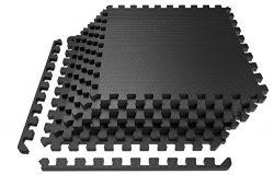 LEVOIT Puzzle Exercise Mat, Premium EVA Foam Interlocking Tiles, Protective Flooring for Gym Equ ...