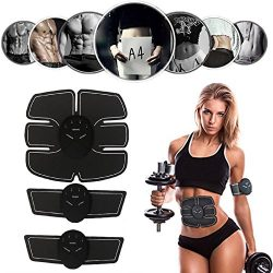 Alferdo ABS Stimulator Abdominal Muscle Trainer Toner Portable Unisex Ab Trainer Home Fitness Wo ...