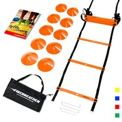AGILITY LADDER & CONES by FireBreather. Powerful Training Equipment to Boost Performance and ...