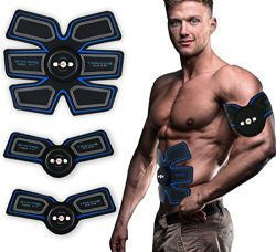 Fourwinner Muscle Toner&ABS Stimulator – Abdominal Toning Belt&EMS Body Muscle Tra ...