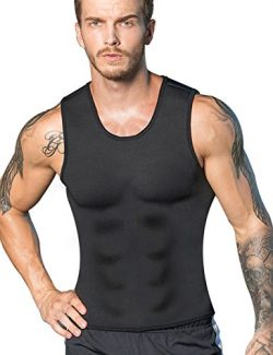 Men Neoprene Waist Trainer Vest Weight Loss Hot Sweat Slimming Body Shaper Sauna Tank Top Workou ...