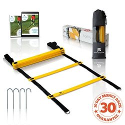 Sport Perfomance | Agility Ladder | Yellow-Black |8 rungs – 13.5 feet| for the Best Agilit ...