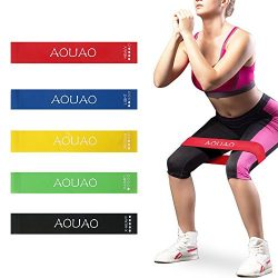 Resistance Bands Exercise – Set of 5, 12-inch Workout Bands – 100% Natural Latex !