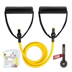 RitFit Single Resistance Exercise Band With Comfortable Handles – Ideal for Physical Thera ...