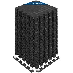Yes4All Interlocking Exercise Foam Mats with Border – Interlocking Floor Mats for Gym Equipment  ...
