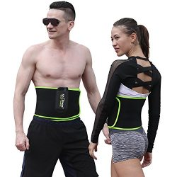 Waist Trimmer Belt, SZ-Climax Exercise Wraps for Weight Loss Mens Women Fitness Workout Sweat Sa ...