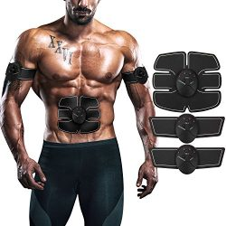 ITERY Muscle Toner, Abdominal workouts Fitness Portable AB Machine Abdominal Toning Belt EMS Tra ...