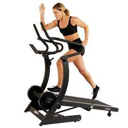 ASUNA Hi-Performance Cardio Trainer Self Powered Manual Treadmill with Adjustable Incline, Magne ...