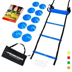 AGILITY LADDER & CONES by FireBreather. Powerful Training Equipment to boost Speed and Cardi ...