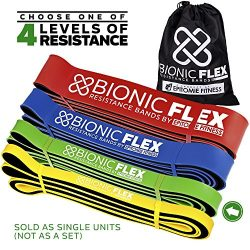 Epitomie Fitness Bionic Flex Pull Up Assist Band – Ultra Durable Resistance Bands for Strength T ...