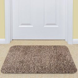 Large Indoor Doormat Super Absorbs Mud Mat Latex Backing Non Slip Door Mat for Front Door Inside ...